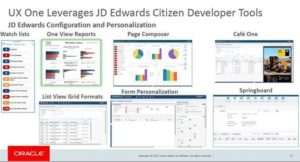 UX One Leverages JD Edwards Citizen Developer Tools
