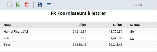 FR NetSuite Fournisseurs à lettrer