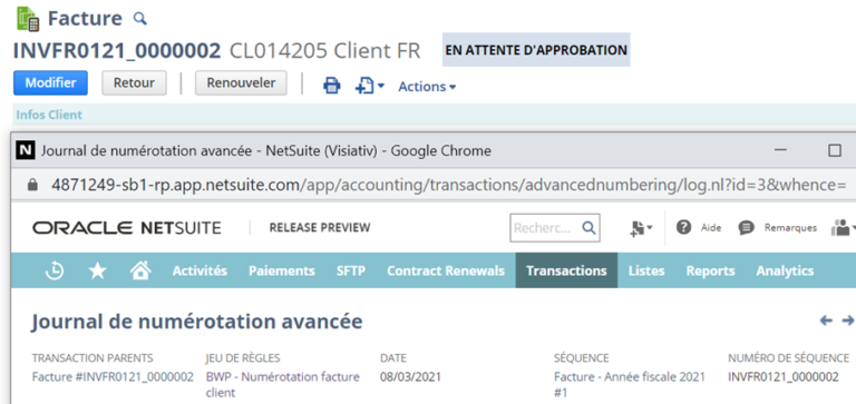 advance numbering NetSuite