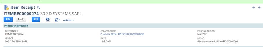 item receipt