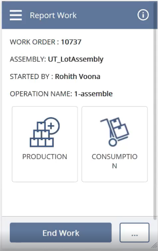 Manufacturing mobile app